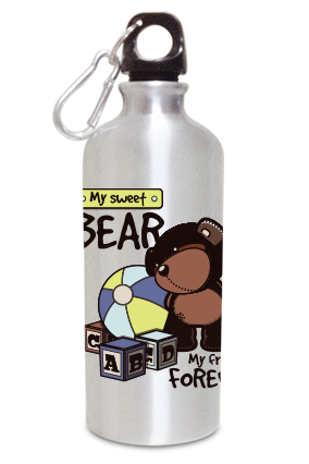 Bear 600ml Silver Sipper