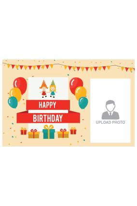 Happy Birthday Landscape Poster