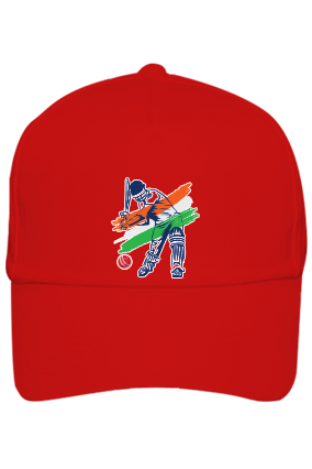 Customized Cricket Red Cap