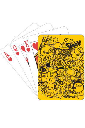 Birthday Playing Card