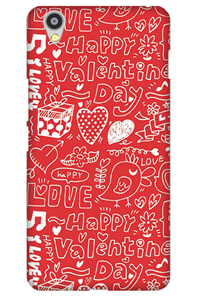 Customized Oneplus X Happy Valentine's Day Mobile Cover