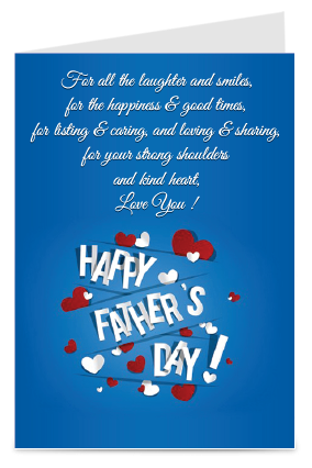 Blue Colored Father's Day Greeting Card