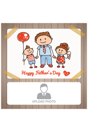Brown Colored Father's Day Square Canvas Print