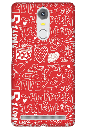 Lenovo K5 Note Happy Valentine's Day Mobile Cover
