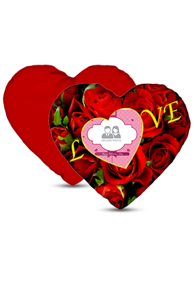 Its Love Valentine's Heart Love Cushion Cover