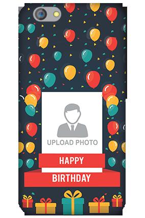 Silicon - OPPO F1s Balloons Birthday Mobile Cover