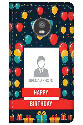 3D - Moto G5 Plus Balloons Birthday Mobile Cover
