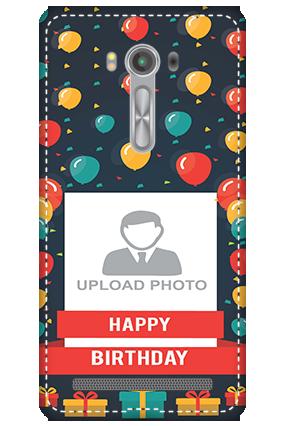 3D - Asus Zenfone 2 Laser ZE550KL Balloons Birthday Mobile Cover