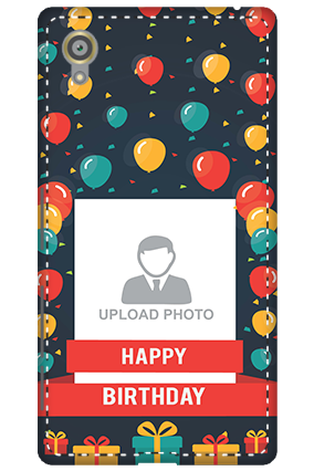 3D - Sony Xperia X Balloons Birthday Mobile Cover