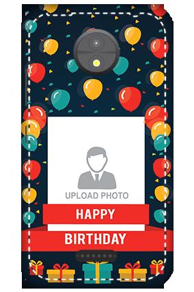 3D -  Motorola Moto C Balloons Birthday Mobile Cover