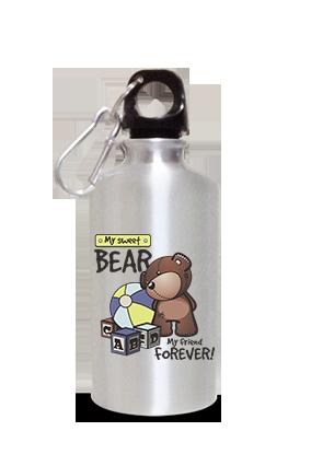 Bear 400ml Silver Sipper