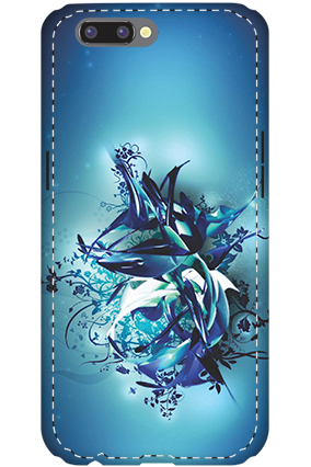 Premium 3D-Oppo R10 Blue Pheonix Mobile Cover
