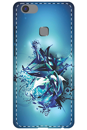 3D - Vivo V7 Plus Blue Pheonix Mobile Cover