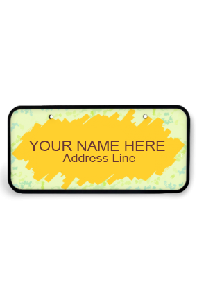 Personalized Yellow Splash Wooden Nameplate