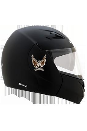 Rock N Roll Vega Boolean Dull Black Helmet