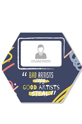 Bad Artist Good Artist Design Hexa Coaster