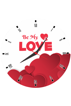 Be My Love Round Valentine Clock