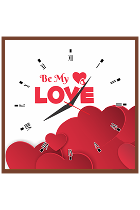 Be My Love Square Valentine Clock