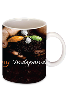 Printed Wishing Independence White Coffee Mug