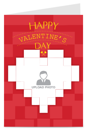 Customize Graphic Red Valentine Day Greeting Card