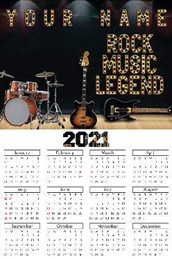 Lights Poster Name In Image Table Calendar (12x18 Inches)