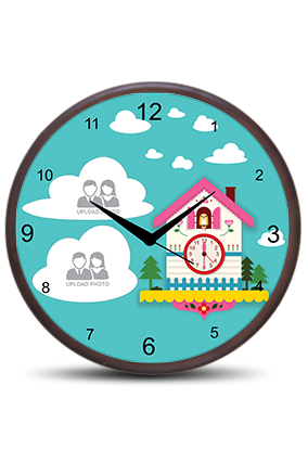 Clouds Wooden Wall Clock