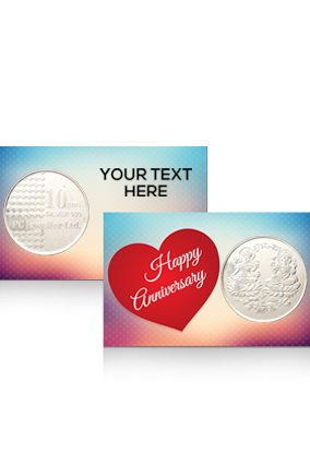 Printed Red Heart Silver Coin