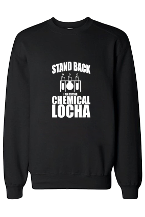 Chemical Locha White Print Black Sweatshirt