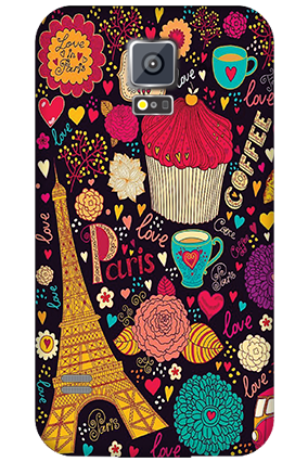 Personalised Samsung Galaxy S5 Paris Valentine's Day Mobile Cover