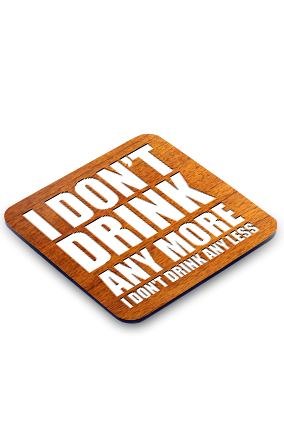 Don't Drink Square Coaster