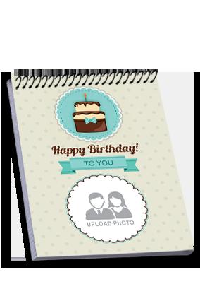 Custom Cake Top Spiral Notebook