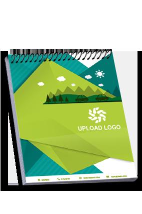 Customized Green Top Spiral Business Notebook