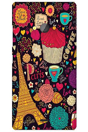 Silicon - Microsoft Lumia 540 Paris Valentine's Day Mobile Cover