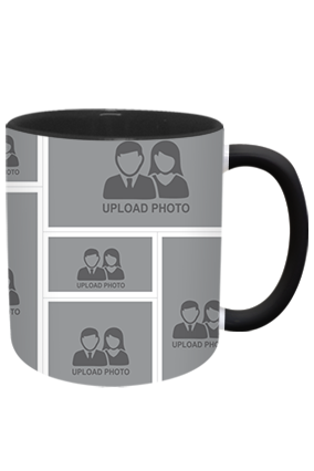 Personalized Amazing Inside Black Mug With Black Handle