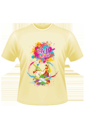 Play Holi Yellow T-Shirt