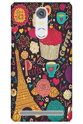 Lenovo K5 Note Paris Valentine's Day Mobile Cover