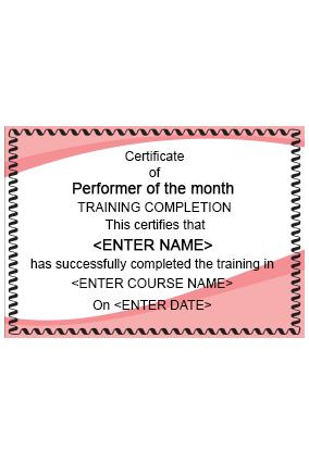 Food Pleasure Restaurant Certificate