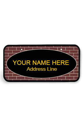 Premium Brown Bricks Wooden Nameplate