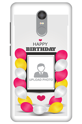 Personalised 3D-Xiaomi Redmi Note 4 Birthday Greetings Mobile Cover