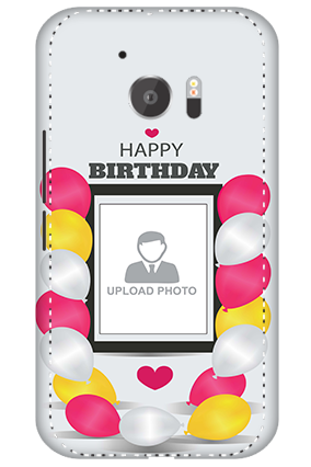 3D - HTC M10 Birthday Greetings Mobile Cover