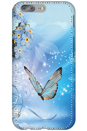 3D - OnePlus 5 Blue Butterfly Mobile Cover