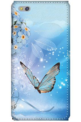 3D-Xiaomi Mi 5c Blue Butterfly Mobile Cover