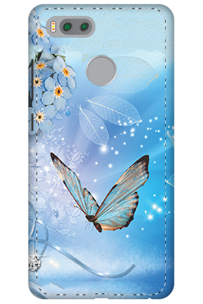 3D-Xiaomi Mi 5x Blue Butterfly Mobile Cover