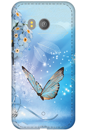 3D - HTC U11 Blue Butterfly Mobile Cover