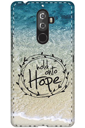 Premium 3D-Lenovo K8 Note Hope Message Mobile Cover