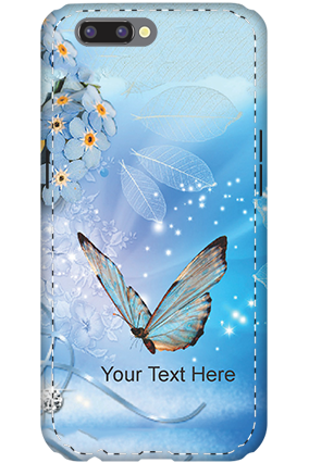 Personalised 3D- Oppo R10 Blue Butterfly Mobile Cover