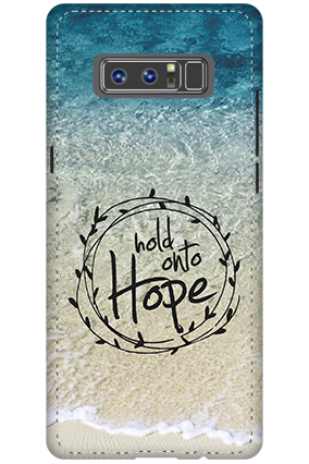 Customized 3D-Samsung Galaxy Note 8 Hope Message Mobile Cover