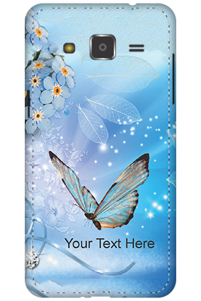 Customize 3D-Samsung Galaxy J2 Blue Butterfly Mobile Cover