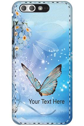 3D - Asus ZenFone 4 Pro Blue Butterfly Mobile Cover