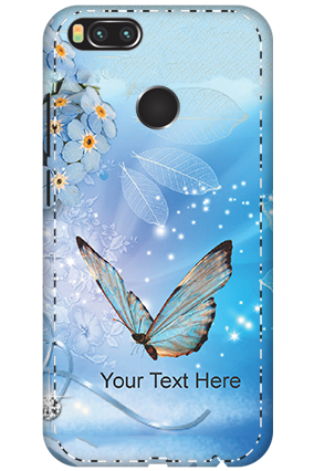 3D - Xiaomi Mi A1 Blue Butterfly Mobile Cover